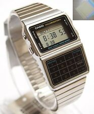 Gift + DBC-611-1 CASIO Databank Calculator Silver Watch Stainless Steel Original