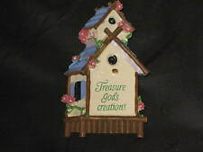 Decorative Refrigerator Magnet Bird House Flowers Polystone Religious NEW!