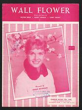 Wall Flower 1957 Debbie Reynolds Sheet Music