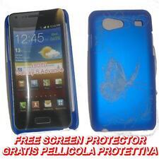 Pellicola+custodia BACK COVER BLU FARFALLA per Samsung I9070 Galaxy S Advance