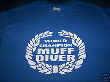 WORLD CHAMPION MUFF DIVER T-SHIRT all sizes FUNNY RUDE