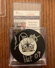 luc robitaille Autograph La Kings Puck With Jsa Coa Rare!