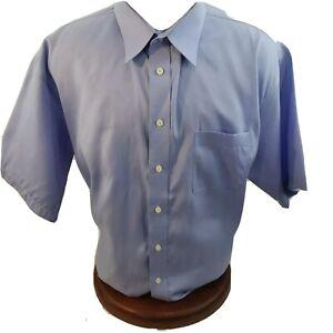 Joseph & Feiss Mens Designer Shirt Button Green Fitted No Iron 18.5 XL Pocket