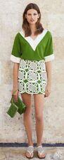Tory Burch  Lexi Skirt  Runway XL Crochet 12 14  Pencil