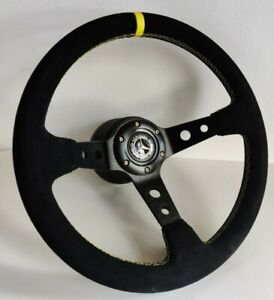 Steering Wheel fits Mercedes Benz Deep Suede Leather Alcantara W123 W124 W201