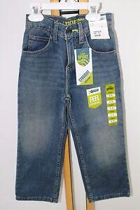 Lee Sport Boys Blue Jeans Size 6 Slim  NWT NEW Adjustable Waist Pants Straight