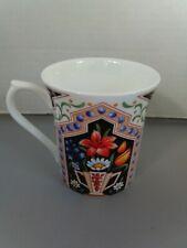 ROYAL HERITAGE VTG MUG COFFEE TEA CUP BONE CHINA ENGLAND,FLOWERS