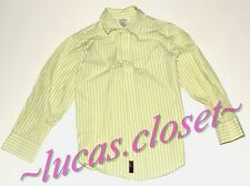 Gymboree size 5 boys Easter long sleeve shirt white green strips
