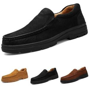 Mens Faux Leather Driving Moccasins Shoes Oxfords Slip on Work Flats Walking L