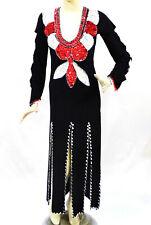 Egyptian Belly Dance Baladi Galabeya Performance Dress Performance Costume Black