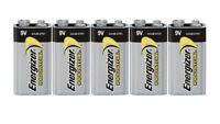 5 Energizer Industrial 9 Volt (9V) Alkaline Batteries (EN22, 6LR61, 1604)