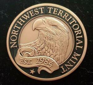 Beautiful Northwest Territorial Mint NWTM 1.75oz 999 Fine Copper Round