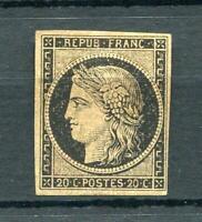 France 1849 Ceres Mint No gum 4 margins 20c Sc# 3 9319