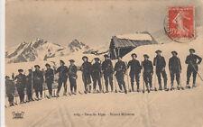 CPA CHASSEURS ALPINS 14-18 2023 dans les alpes ski skieurs timbrée 1911