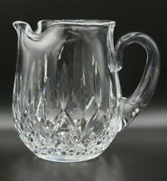 """Vintage Waterford Crystal Lismore Water Pitcher With Ice Lip Signed 6"""" Tall"""