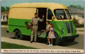 1950s Delivery Van / Auto Advertising Postcard INTERNATIONAL MODEL LM-150 Unused