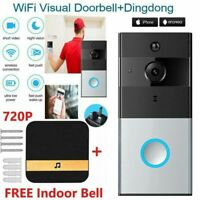 WiFi Smart Doorbell Camera Video Wireless Remote Door Bell CCTV Chime Phone APP