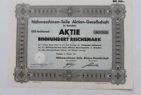 29397 Partager 100 Reichsmark Machine à Coudre Pièces Ag Dresden 1941