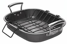 Circulon Oven Roaster Tray Roasting Pan Steel with Rack Casserole Dish - Grey