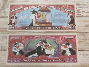 SYLVESTER The CAT & Tweety Bird Cartoon Show ~ $1,000,000 One Million Dollars
