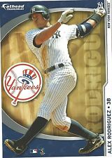 ALEX RODRIGUEZ FATHEAD TRADEABLES 2009 REMOVABLE STICKER NEW YORK YANKEES A-ROD