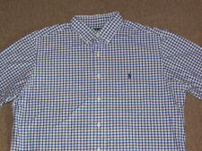 Polo Ralph Lauren Mens Navy White & Brown Pony Button Down Front Shirt L large