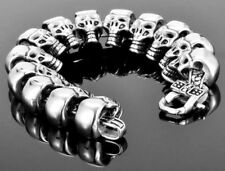 Männer Skull Armband 316 Edelstahl Gothic Biker Chopper Rocker Harley