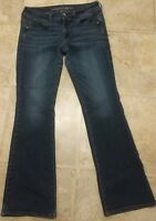 American Eagle Outfitters LADIES 8 Low Rise Blue Jeans Boot Cut