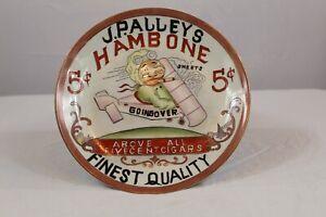 J.P Alleys Hambone Cigar Advertisement Plate Airplane -Black Memorabilia Buffalo