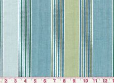 Blue Green Stripe Drapery Upholstery Fabric by Fabricut Favorable CL Splash