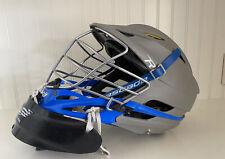cascade r lacrosse helmet Grey / Blue With Neck Guard / Goalie
