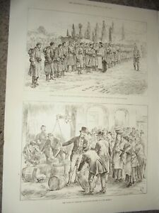 Ireland Boycotted butter in Cork Market 1885 print ref AM