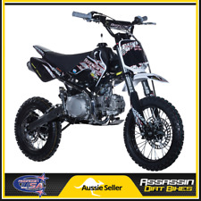 Assassin A6 125cc Dirt Bike 12/14 OVERSIZED DISCS LIFAN ENGINE BIG BORE PIPE