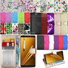 For Samsung Galaxy A8 A530F 2018 - Wallet Leather Case Flip Cover + Screen Guard