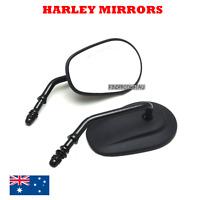 Matt Black Motorcycle Mirrors Harley Davidson XL 883 1200 Touring cruiser fatboy