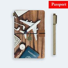 GENUINE LEATHER JOURNAL TRAVEL DIARY TRAVELERS PASSPORT SIZE TRAVEL AROUND WORLD