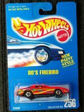 Hot Wheels Blue Card #256 1982 Pontiac Firebird T-Top Red [128]