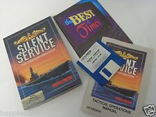 Complete Commodore Amiga Silent Service Video Game Computer System