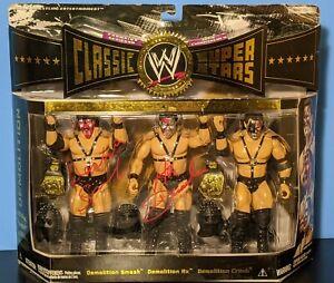 Signed JAKKS WWE Classic Superstars Demolition (Ax, Smash & Crush) MIB COA Auto