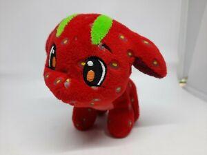 "Neopets Strawberry Poogle Plushie 5"" Jakks Pacific 2008 Rare Soft Toy Animal"
