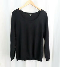 Talbots Womens 100% PURE CASHMERE Black Sweater Sz XL