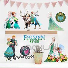 Frozen Green Queen Elsa Princess Anna Decals Wall Stickers Girls Birthday Decor