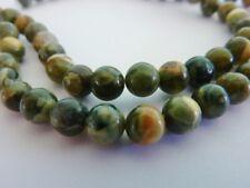 30 pce Natural Rhyolite Jasper Round Gemstone Beads 6mm Jewellery Making