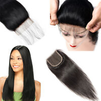 100% Human Hair TOP Brazilian Hair Lace Closure Free Part 4x4 Swiss Lace Closure