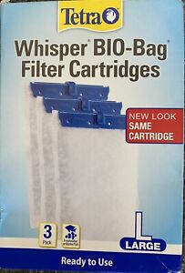 Tetra Whisper Bio-Bag Filter Cartridges for Aquariums Size Large 3 Pack New