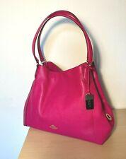 Coach Edie Pink Leather Shoulder Bag'