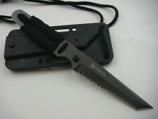 """Cool Military Survival Hunting Tactical Full Tang Serrated Combat 7"""" Knife"""