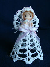"""Precious Moments - """"Graced with Lace"""" Hanging Ornament - 113628 - 2003"""