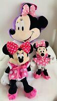 Disney Minnie Mouse, Backpack, Cushion PJ Bag, & Toy, Bear, Doll Lot X 3