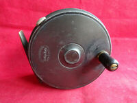 """VERY GOOD VINTAGE 3 7/16"""" DINGLEY BUILT 3 PIECE TROUT FLY REEL FOR ROBERTSON"""